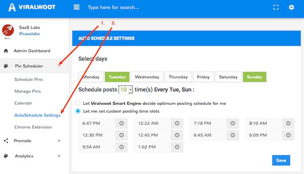 ViralWoot Auto Scheduling