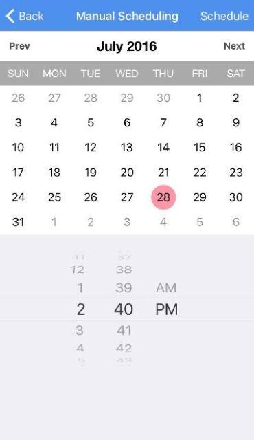 enter schedule