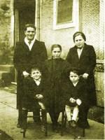 Bruno, sua esposa Iolanda e seus três filhos