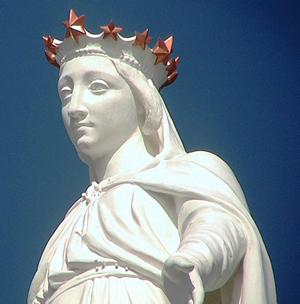 Detalhe da Imagem de Nossa Senhora do Líbano