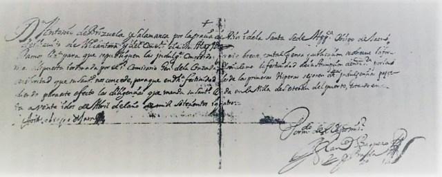 Licencia de Antonio de Brizuela