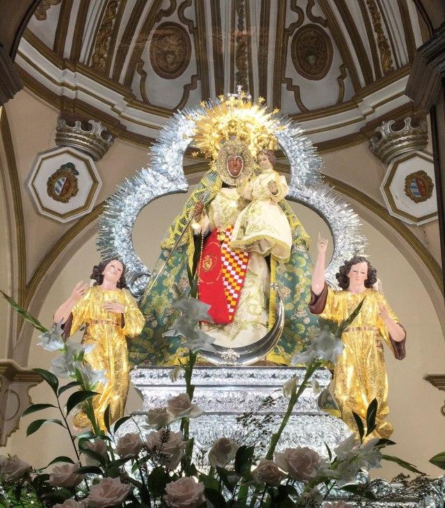 Virgen del Collado preparada para el canto de los Mayos 2020