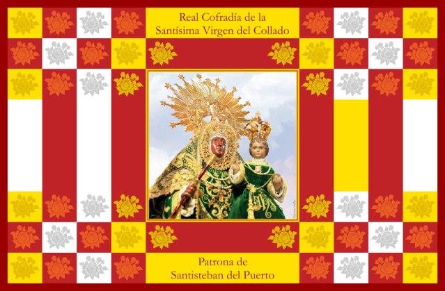Colgadura de la Muy Antigua, Ilustre y Real Cofradía de la Santísima Virgen del Collado Coronada. Patrona de Santisteban del Puerto.