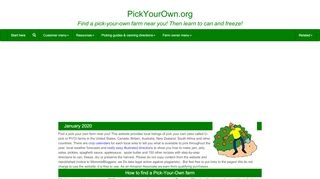 Pick your own Farms in the U.S, Canada, Britain and other countries - Find a farm near you!