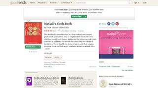 McCall's Cook Book by Food Editors of McCall's