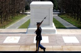 Photo of Soldier in Front of The Tomb of The Unknown Soldier.
