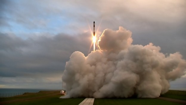 Rocket Lab 'It's a Test' lift off. (Courtesy of Rocket Lab)