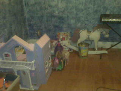 Toys in Guest Bedroom