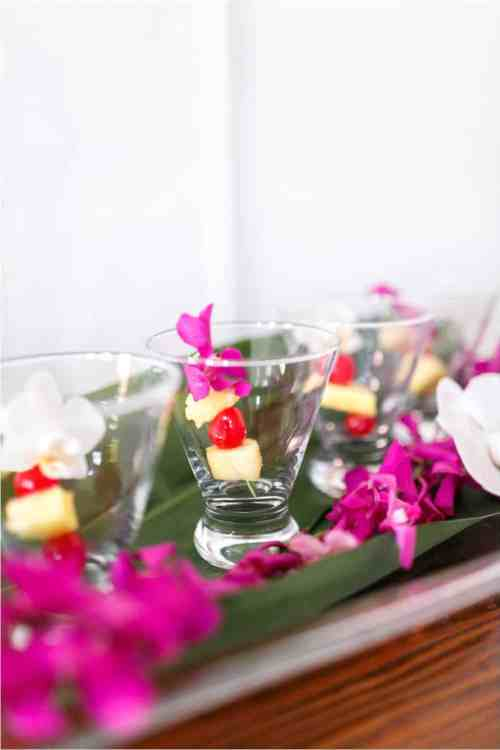 modern tropical wedding photos