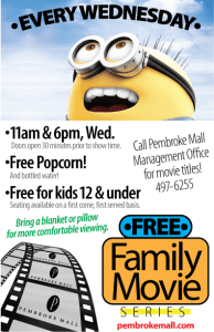 Free Family Movie Series at Pembroke Mall