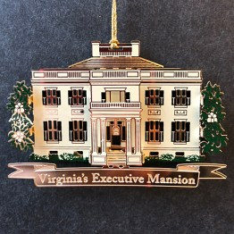 The Third Annual Ornament introduced in 2014, features a true historic Executive Mansion.