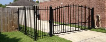 12 Foot Driveway Swing Gate Installation