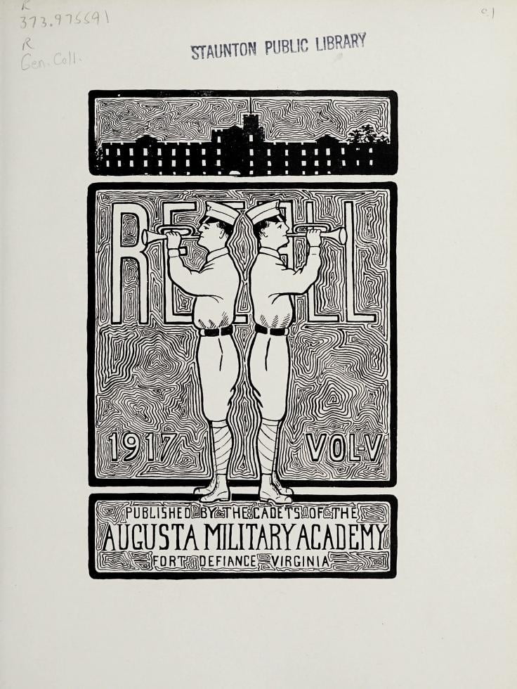 1917 Recall Yearbook from the Augusta Military Academy of Fort Defiance, Virginia