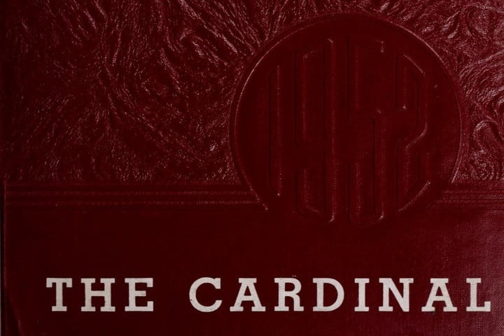 1952 The Cardinal Yearbook, Caroline High School, Milford, Virginia