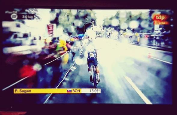 fotografía televisión Tour de Francia
