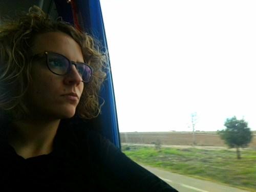 Yo en el autobús