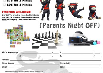 Upcoming Events-Parents Night Out November 10th