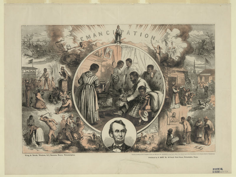 Education From LVA Emancipation Lithograph