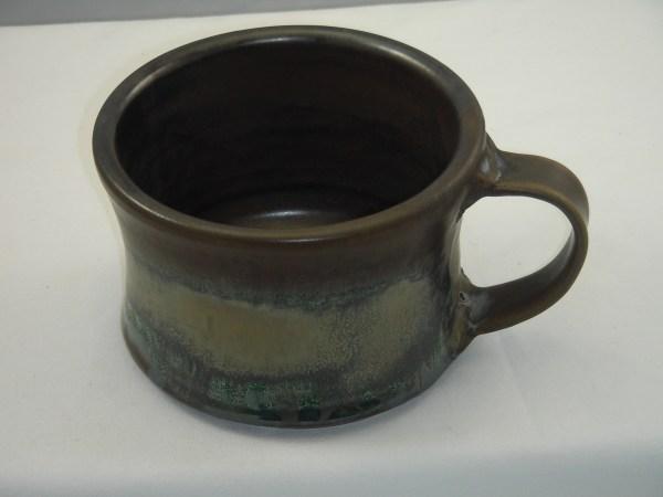 Pottery Soup Mug with Handle