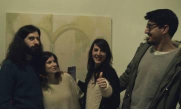 Beatriz Castela, Jorge Gil, David Matías and me.Presentation project I 5 miradas. 1 destino: EXTREMADURA I Artworks for Hospedería Puente de Alconetar. Garrovillas (Cáceres)