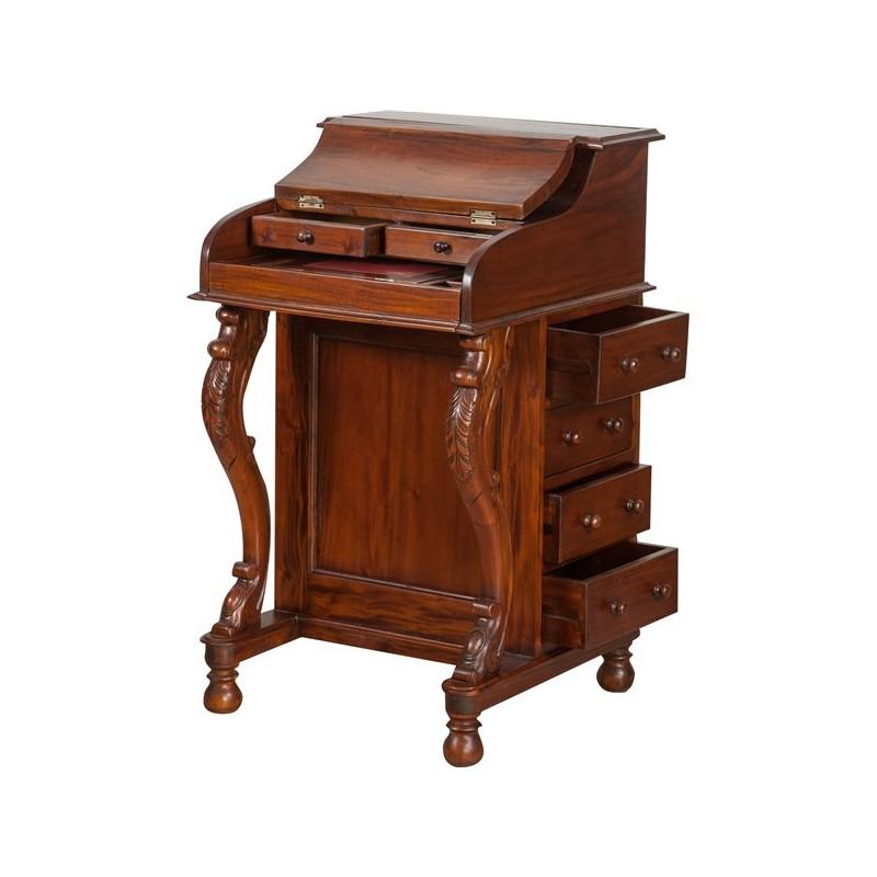 trendy scrivania secrtaire noce ribalta mobile davenport inglese pelle with scrivania con ribalta
