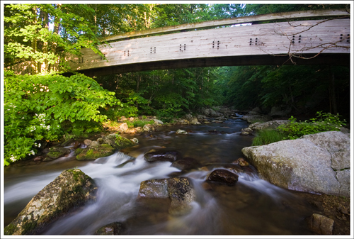 The beautiful arched bridge over the Tye River.