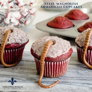 Steel Magnolias Armadillo Butt Cupcakes