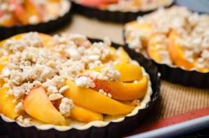 Make-Ahead Almond Crumble Peach Tart