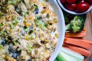 Lighten Up, Y'all! Buffalo Chicken Dip