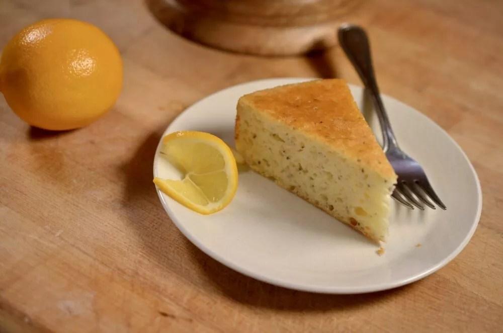 Lemon-Chia Seed Yogurt Cake