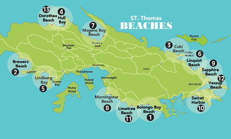 beaches on st thomas