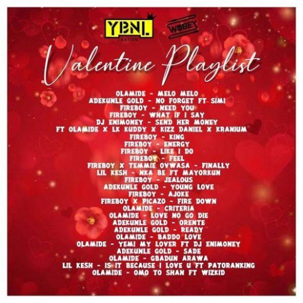 dj enimoney valentine's playlist