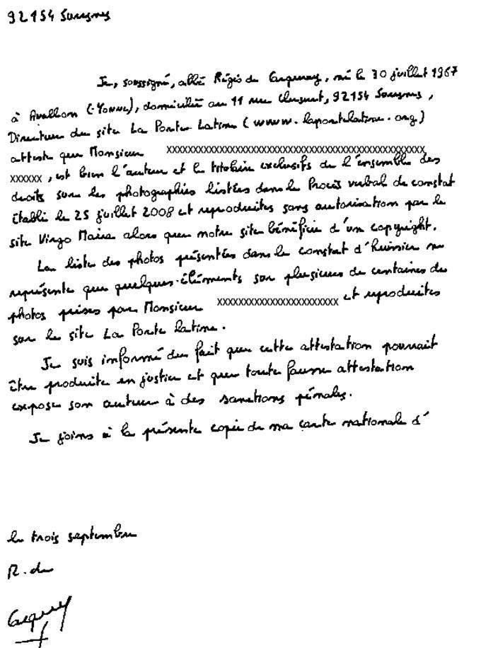 Lettre De Temoignage En Faveur De La Mere : lettre, temoignage, faveur, Attestation, Honneur, Bonne
