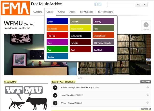 Free music archive creative commons