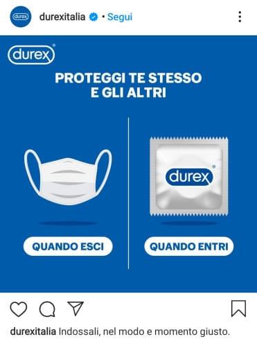 durex commercials pubblicità prevenzione quarantena covid