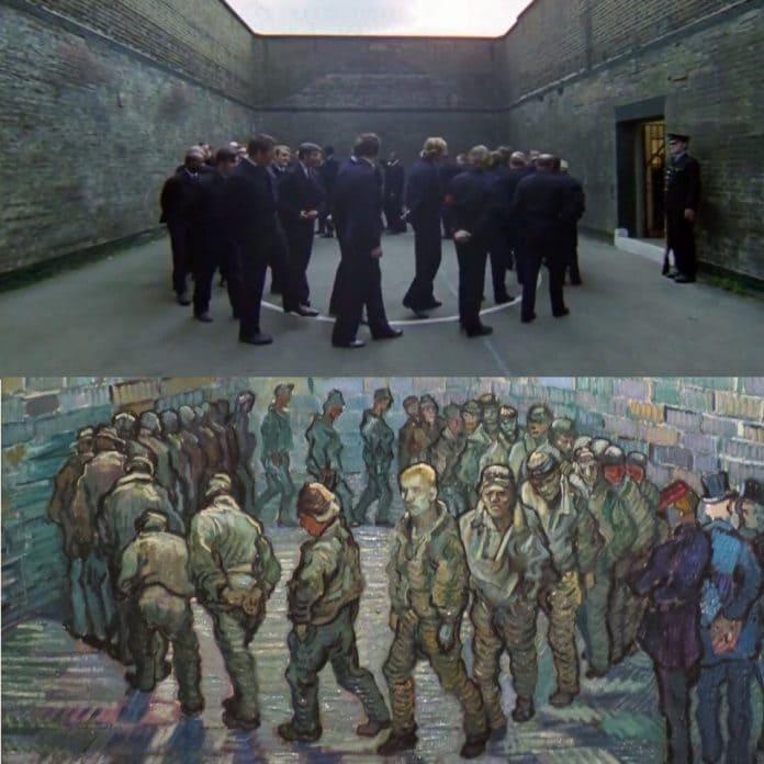 cinema e pittura: Arancia Meccanica. La Ronda dei Carcerati, Vincent Van Gogh.