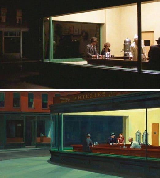 cinema e pittura: Spiccioli dal cielo, Herbert Ross. I nottambuli, Edward Hopper.