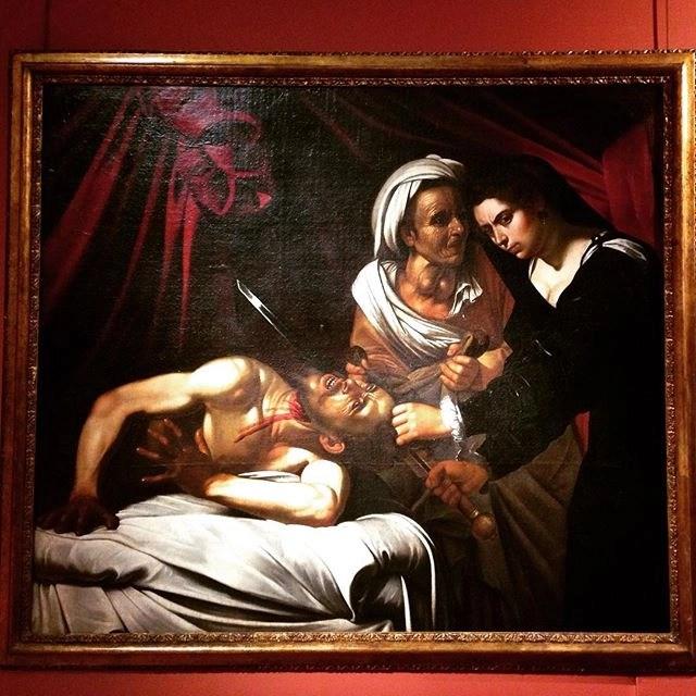 Louis Finson, Giuditta decapita Oloferne (1607, olio su tela, 140x160 cm, Napoli, Palazzo Zevallos)