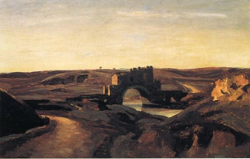 Camille Corot, Ponte Nomentano (1826-1928, olio su tela, Rotterdam, Museum Boijmans van Beuningen, photo credits: wikiart.org)