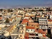 Looking to the north along Ledra Street