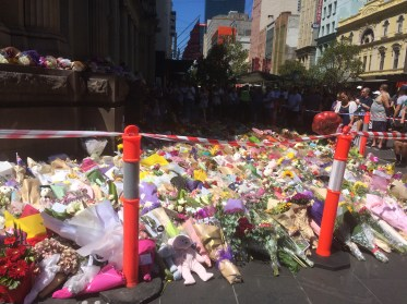 Just the start of the floral tributes