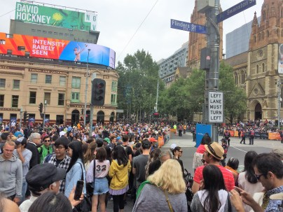 Crowds for the Australia Day Parade