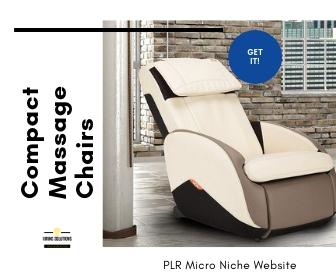 PLR Website For Sale - Compact Massage Chairs Niche