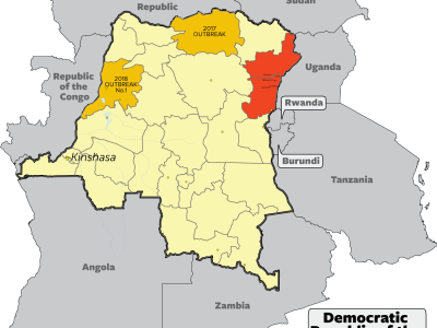 Ebola virus disease numbers from a double-province outbreak