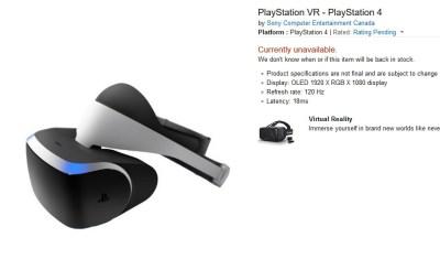 Цена на PSVR на Амазоне сейчас