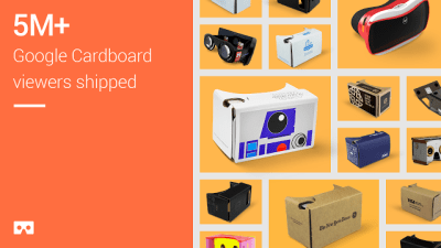 Шлем виртуальной реальности Google Cardboard в ассортименте