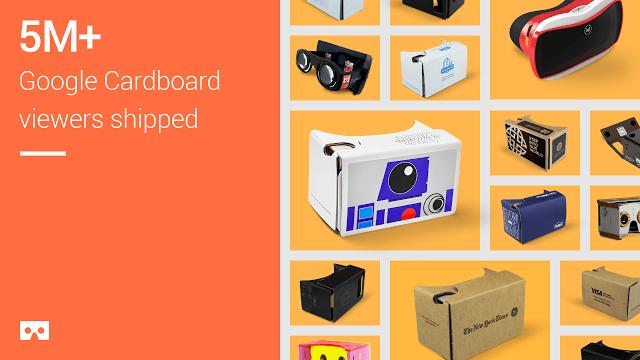 Продано свыше 5 миллионов Google Cardboard