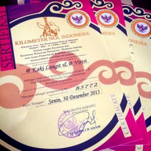 sertifikat km 0
