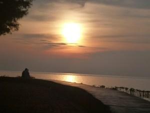 sunrise in pramuka island