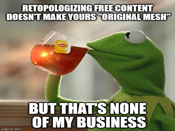 Original Mesh Kermit